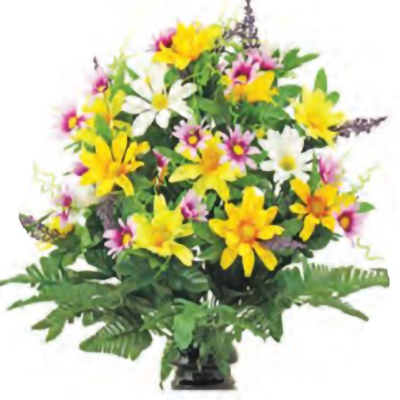 Lutheran Cemetery - delightful daisies - A Cemetery Of All Faiths