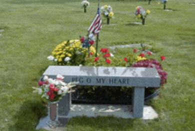 Lutheran Cemetery - photo bench - A Cemetery Of All Faiths